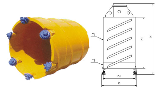 Core Barrel With Roller Bit Equipile