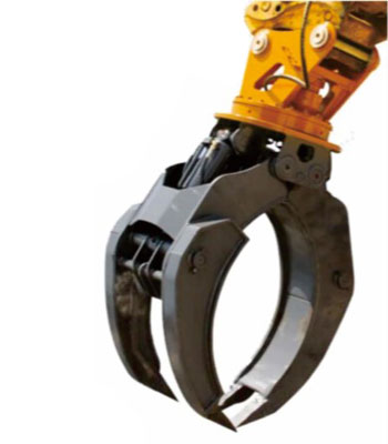 hydraulic rotating log grapple 1