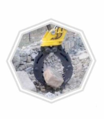 hydraulic rotating rock grapple 3